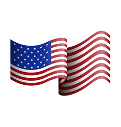Isolated american flag on a white background vector