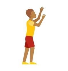 Man hands up vector image
