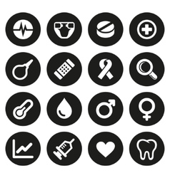 Medical icons set 2 vector image