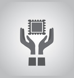 microchip or logo vector image
