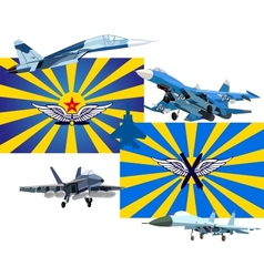 Military and air forces of russia vector