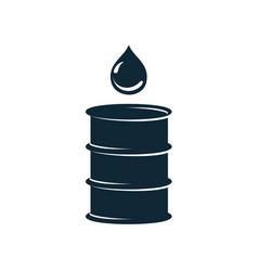 oil fuel barrel oil drop simple flat icon vector image vector image