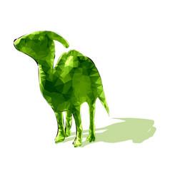 Poligonal dinosaur vector