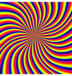 rainbow swirl vector image vector image