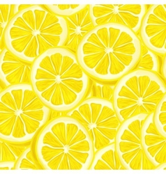 Sliced lemon seamless background vector image vector image