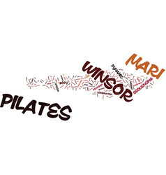 The mari winsor pilates method text background vector