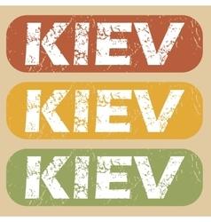 Vintage kiev stamp set vector