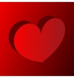 Volume heart background vector image