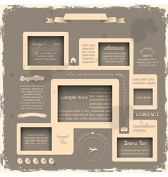Web design in Retro style 2 vector image vector image