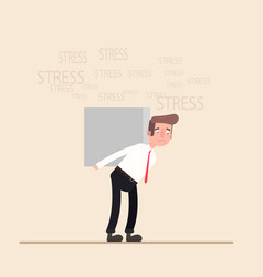 Young businessman with stress business concept vector