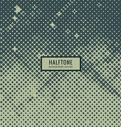 Vintage halftone background vector