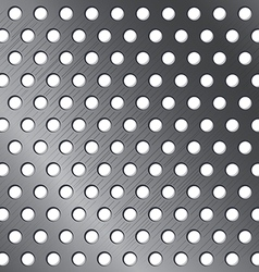 Silver pattern background metallic circle texture vector