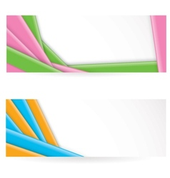 Shiny colorful striped banners vector image