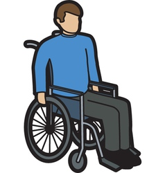 Man in wheelchair vector