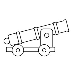 cannon icon outline style vector image