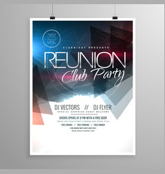 Event club party flyer template brochure design vector