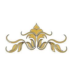 golden crest decoration elegant vignette image vector image