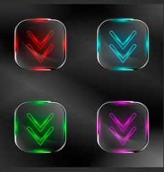 Set of transparent buttons vector