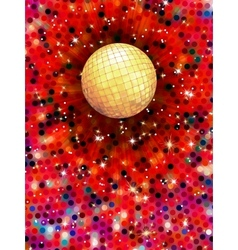 Colorful disco ball 3d EPS 10 vector image