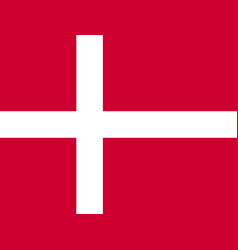 Denmark flag vector