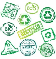 eco stamp vector image