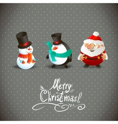 Cute christmas characters vector