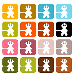 Colorful men icons - symbols set isolated on white vector