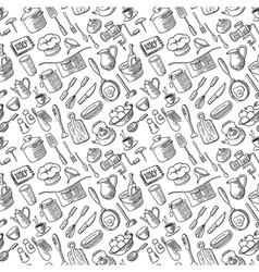 kitchen doodles vector image
