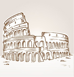 Colosseum hand draw vector