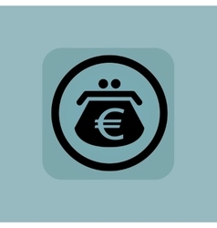 Pale blue euro purse sign vector image