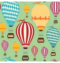 Air balloon pattern vector