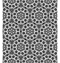 Black lace pattern vector