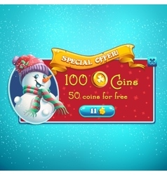 Special offer game window vector