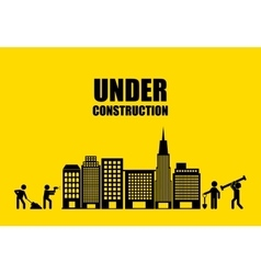 City under construction isolated icon design vector