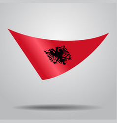 albanian flag background vector image vector image