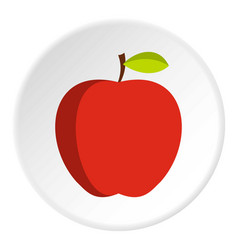 apple icon circle vector image