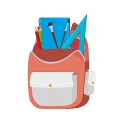 Backpack bag school vector