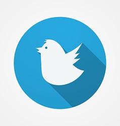 Bird social web or internet button Blue Fat Bird vector image vector image