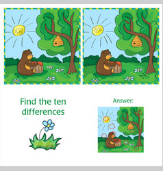 cartoon of finding differences vector image vector image