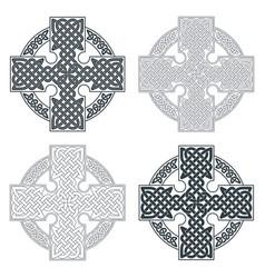 Celtic cross ethnic ornament geometric vector