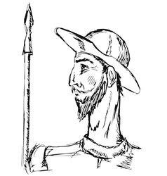 Don quixote vector