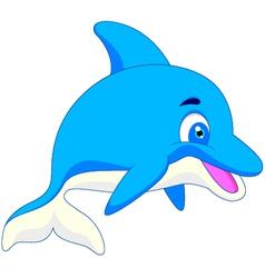 funny dolphin cartoon vector image