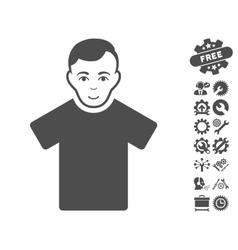Guy Icon With Tools Bonus vector image vector image