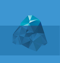 iceberg in the water vector image