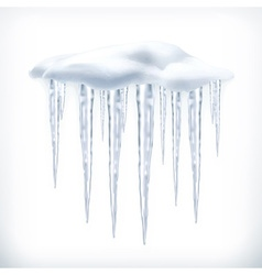 Icicles object vector image