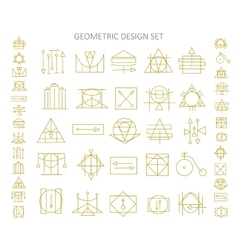 Icons of abstract geometric symbols vector