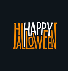 Logotype design abstract halloween holiday sign vector