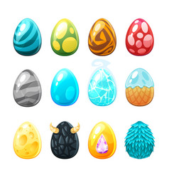 Set of colorful eggs vector