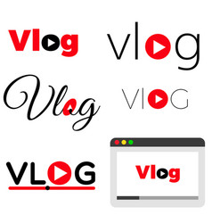 vlog video blogging concept vector image