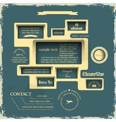 Web design in Retro style vector image